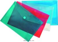 Папка конверт на липучке А4 Envelope Folder прозрачная ассорти 8098